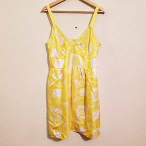 Banana Republic Yellow Silk Dress